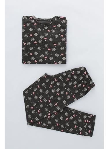 Penti Teen Hot Tech Snowflake 2Li Pijama Takımı Renkli
